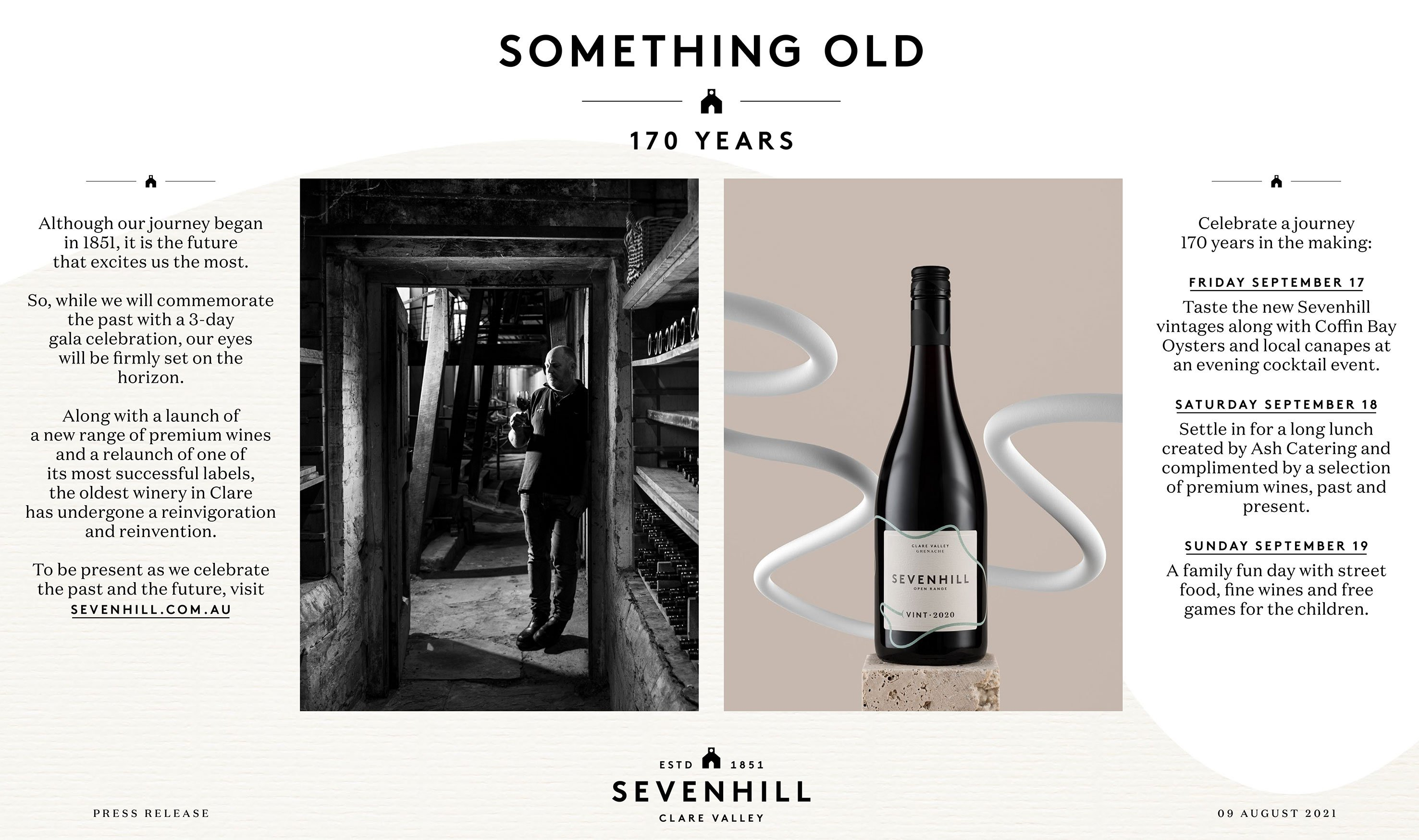 Sevenhill - 170 years in the making