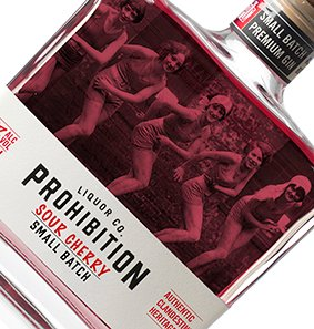 PROHIBITION SOUR CHERRY GIN 500ML X 3