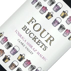 FOUR BUCKETS TOURIGA SHZ MALBEC 2014 X 6
